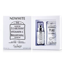 Guinot by GUINOT Newhite Vitamin C Brightening Serum (Brightening Serum 23.5ml/0.8oz + Pure Vitamin C 1.5g/0.05oz) -2pcs for WOMEN Launched by the design house of GUINOT in, Guinot by GUINOT for WOMEN posesses a blend of: It is recommended for wear.