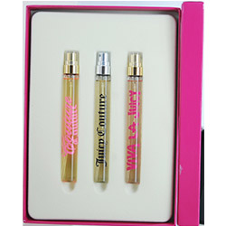JUICY COUTURE VARIETY by Juicy Couture SET-3 PIECE WOMENS MINI VARIETY WITH JUICY COUTURE & VIVA LA JUICY & COUTURE COUTURE & ALL ARE EAU DE PARFUM SPRAY .33 OZ for WOMEN