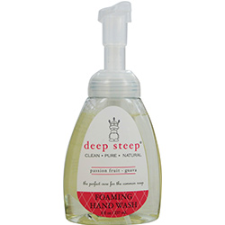 DEEP STEEP by Deep Steep PASSIONFRUIT-GUAVA ORGANIC FOAMING HAND WASH 8 OZ for UNISEX