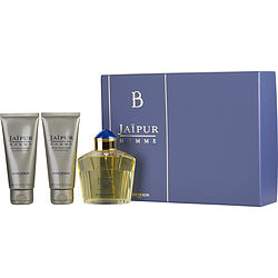 JAIPUR by Boucheron SET-EDP SPRAY 3.4 OZ & AFTERSHAVE BALM 3.4 OZ & ALL OVER SHOWER GEL 3.4 OZ for MEN