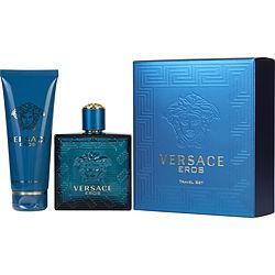 VERSACE EROS by Gianni Versace SET-EDT SPRAY 3.4 OZ & SHOWER GEL 3.4 OZ (TRAVEL OFFER) for MEN 251556