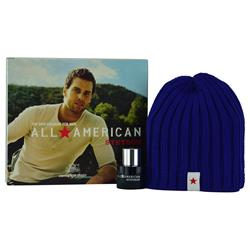 ALL AMERICAN STETSON by Coty SET-Cologne SPRAY 1 OZ & SKI CAP for MEN