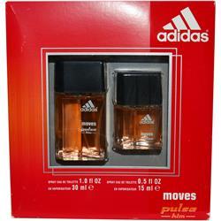 ADIDAS MOVES PULSE by Adidas SET-EDT SPRAY 1 OZ & EDT SPRAY .5 OZ for MEN