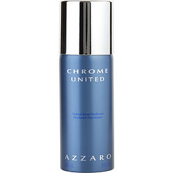 CHROME UNITED by Azzaro DEODORANT SPRAY 5 OZ for MEN