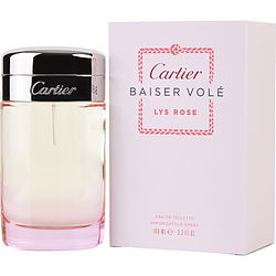 CARTIER BAISER VOLE LYS ROSE by Cartier EDT SPRAY 3.3 OZ for WOMEN