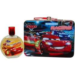 CARS 2 by Air Val International SET-EDT SPRAY 3.4 OZ & LUNCH BOX for UNISEX 260515