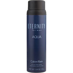 ETERNITY AQUA by Calvin Klein BODY SPRAY 5.4 OZ for MEN