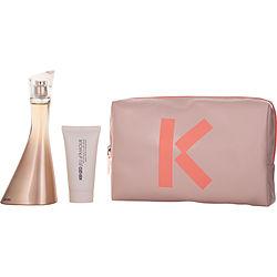 KENZO JEU D'AMOUR by Kenzo SET-EDP SPRAY 3.4 OZ & CREAMY MILK 1.7 OZ & POUCH for WOMEN