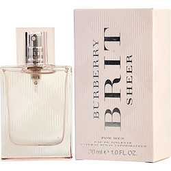BURBERRY BRIT SHEER by Burberry EDT SPRAY 1 OZ (NEW PACKAGING) for WOMEN