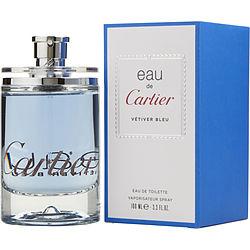 EAU DE CARTIER VETIVER BLEU by Cartier EDT SPRAY 3.3 OZ for UNISEX