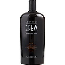 AMERICAN CREW by American Crew 3 IN 1 (SHAMPOO, CONDITIONER, BODY WASH) 33.8 OZ for MEN