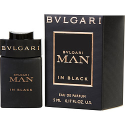 Bvlgari Man In Black By Bvlgari Eau De Parfum .17 Oz Mini For Men
