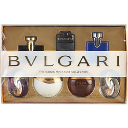 Bvlgari Variety By Bvlgari Set-7 Pieces With Omnia Amethyste Edt & Jasmine Noir Edp & Aqua Divina Edt & Man In Black Edp & Aqua Amara Edt & Blv Pour Homme Edt & Omnia Crystalline Edt And All Are .17 Oz Minis For Unisex
