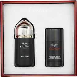 PASHA DE CARTIER EDITION NOIRE by Cartier SET-EDT SPRAY 3.3 OZ & DEODORANT STICK ALCOHOL FREE 2.5 OZ for MEN