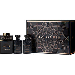 BVLGARI MAN IN BLACK by Bvlgari SET-EDP SPRAY 2 OZ & AFTERSHAVE BALM 1.3 OZ & SHOWER GEL 1.3 OZ for MEN