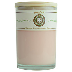 GRAPEFRUIT MASSAGE & AROMATHERAPY SOY CANDLE 12 OZ TUMBLER. AN INVIGORATING & PURIFYING BLEND WITH CITRINE GEMSTONE. BURNS APPROX. 30+ HOURS for UNISEX