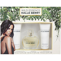 WILD ESSENCE HALLE BERRY by Halle Berry SET-EAU DE PARFUM SPRAY 1 OZ & BODY LOTION 2.5 OZ & SHOWER GEL 2.5 OZ for WOMEN