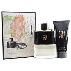 CH PRIVE CAROLINA HERRERA by Carolina Herrera SET-EDT SPRAY 3.4 OZ & AFTERSHAVE BALM 3.4 OZ for MEN
