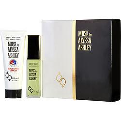 ALYSSA ASHLEY MUSK by Alyssa Ashley SET-EDT SPRAY 3.4 OZ & HAND AND BODY LOTION TRIPLE ACTION 8.5 OZ for WOMEN