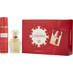L'AIMANT by Coty SET-PARFUM DE TOILETTE SPRAY 1 OZ & DEODORANT SPRAY 2.5 OZ for WOMEN