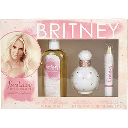 FANTASY BRITNEY SPEARS by Britney Spears SET-EDP SPRAY 1.7 OZ & DRY BODY OIL 4.2 OZ & SOLID PERFUME PENCIL .10 OZ MINI (INTIMATE EDITION) for WOMEN