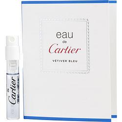 EAU DE CARTIER VETIVER BLEU by Cartier EDT SPRAY VIAL ON CARD for UNISEX