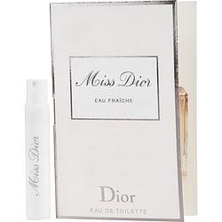 MISS DIOR EAU FRAICHE by Christian Dior EDT SPRAY VIAL ON CARD for WOMEN