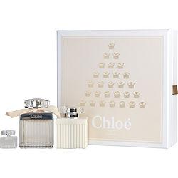 CHLOE FLEUR DE PARFUM by Chloe SET-EDP SPRAY 2.5 OZ & BODY LOTION 3.4 OZ & EDP .17 OZ MINI for WOMEN