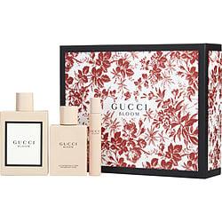 GUCCI BLOOM by Gucci SET-EAU DE PARFUM SPRAY 3.3 OZ & BODY LOTION 3.4 OZ & EAU DE PARFUM ROLLERBALL 0.25 OZ MINI for WOMEN