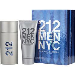 212 by Carolina Herrera SET-EDT SPRAY 3.4 OZ & AFTERSHAVE GEL 3.4 OZ (TRAVEL OFFER) for MEN