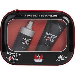 100% LOVE by Vapro International SET-EDT SPRAY 2.5 OZ & AFTERSHAVE BALM 3.4 OZ for MEN