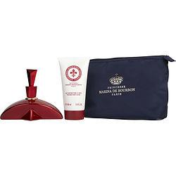 Marina De Bourbon Rouge Royal By Marina De Bourbon Set-Eau De Parfum Spray 3.4 Oz & Body Lotion 5 Oz & Pouch For Women