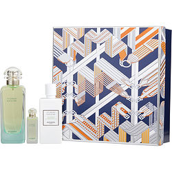UN JARDIN SUR LE NIL by Hermes SET-EDT SPRAY 3.3 OZ & BODY LOTION 2.7 OZ & EDT .25 OZ MINI for WOMEN Launched by the design house of Hermes in 2005, UN JARDIN SUR LE NIL by Hermes for WOMEN posesses a blend of: Green Mango, Tomato, Grapefruit, Carrot, Lotus, hyacinth, Bulrush, Peony, Orange, Incense, Musk, Cinnamon, Iris, Labdanum It is recommended for casual wear.