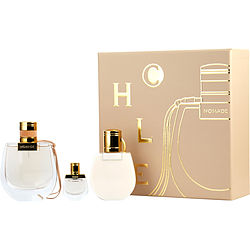 CHLOE NOMADE by Chloe SET-EDP SPRAY 2.5 OZ & BODY LOTION 3.4 OZ & EDP .17 OZ MINI for WOMEN
