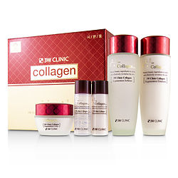 3W Clinic by 3W Clinic 3W Clinic Collagen Skin Care Set: Softener 150ml + Emulsion 150ml + Cream 60ml + Softener 30ml + Emulsion 30ml -5pcs for WOMEN