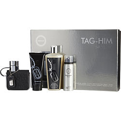 ARMAF TAG HIM by Armaf SET- EDT SPRAY 3.4 OZ & SHOWER GEL 3.4 OZ & PERFUME BODY SPRAY 1.7 OZ & SHAMPOO 8.4 OZ for MEN Launched by the design house of Armaf in Unknown, ARMAF TAG HIM by Armaf for MEN posesses a blend of: Bergamot, Grapefruit, Ginger, Cedar, Sandalwood It is recommended for wear.