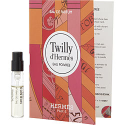 TWILLY D'HERMES EAU POIVREE by Hermes EAU DE PARFUM SPRAY VIAL ON CARD for WOMEN Launched by the design house of Hermes in 2019, TWILLY D'HERMES EAU POIVREE by Hermes for WOMEN posesses a blend of: Pink Pepper, Patchouli, Rose It is recommended for wear.