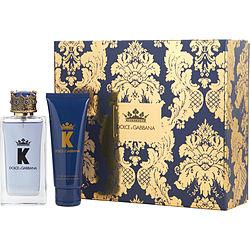 DOLCE & GABBANA K by Dolce & Gabbana SET-EDT SPRAY 3.4 OZ & AFTERSHAVE BALM 2.5 OZ for MEN