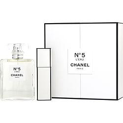 CHANEL #5 L'EAU by Chanel SET-EDT SPRAY 3.4 OZ & EDT SPRAY 0.67 OZ for WOMEN