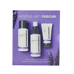 Dermalogica by Dermalogica Sensitive Skin Rescue Kit: UltraCalming Cleanser 50ml/1.7oz + UltraCalming Mist 50ml/1.7oz + Calm Water Gel 15ml/0.5oz -3pcs for WOMEN