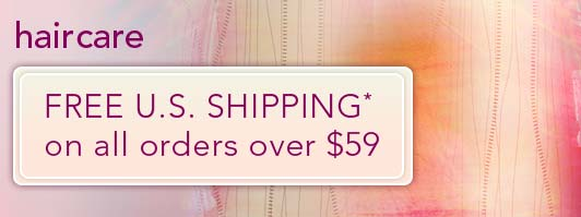 Free Shipping on hair care orders over $59.00